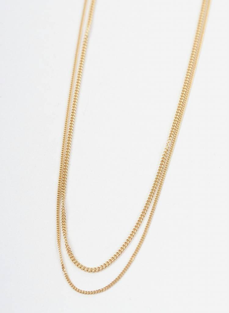 """Jukserei Halskette """"Le Double Grumetta"""" Gold - hergestellt aus vergoldetem 925er Silber"""
