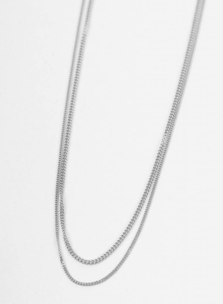 "Jukserei Necklace ""Le Double Grumetta""  Silver is made of 925 sterling silver"