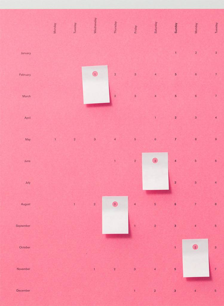 Wandkalender 2018 - Bubble Pink & Muddy black von Populäre Produkte