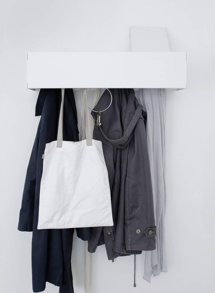 "Linea1 Garderobe ""Linea1_cr"" - Garderobe aus feuerverzinktem Stahl"