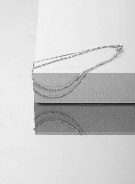 "Jukserei Bracelet ""Le Double Grumetta "" Silver"