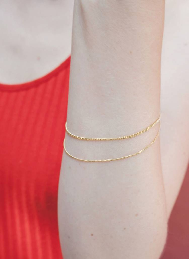 "Jukserei Bracelet  ""Le Double Grumetta""  Gold is made of gold plated 925 sterling silver"