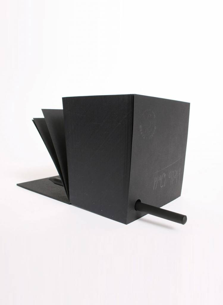 "Tyyp Notepad ""Cube"" Black - with hole to hold a pencil"