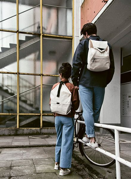 """Hänska Backpack """"Lucid Rust Linen"""" - handmade in Berlin"""