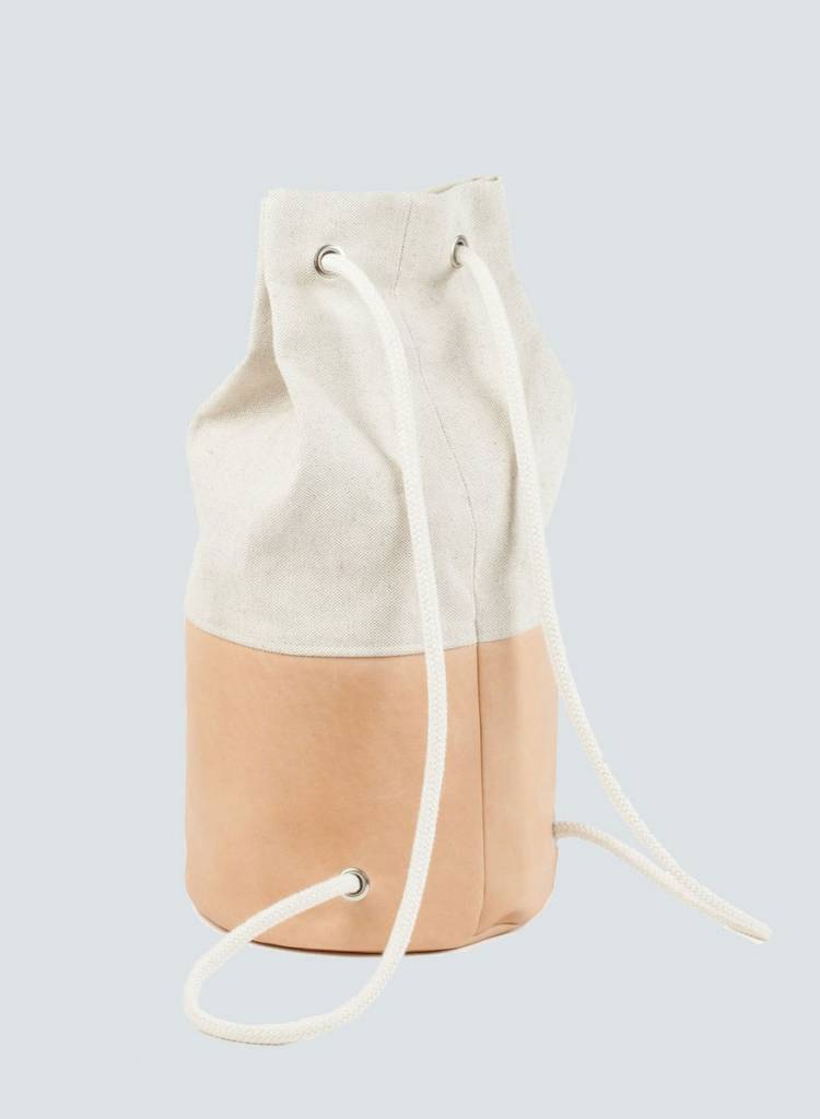 "Marin et Marine Maritime duffel bag ""Sac Marin"" made from calf leather and organic cotton"