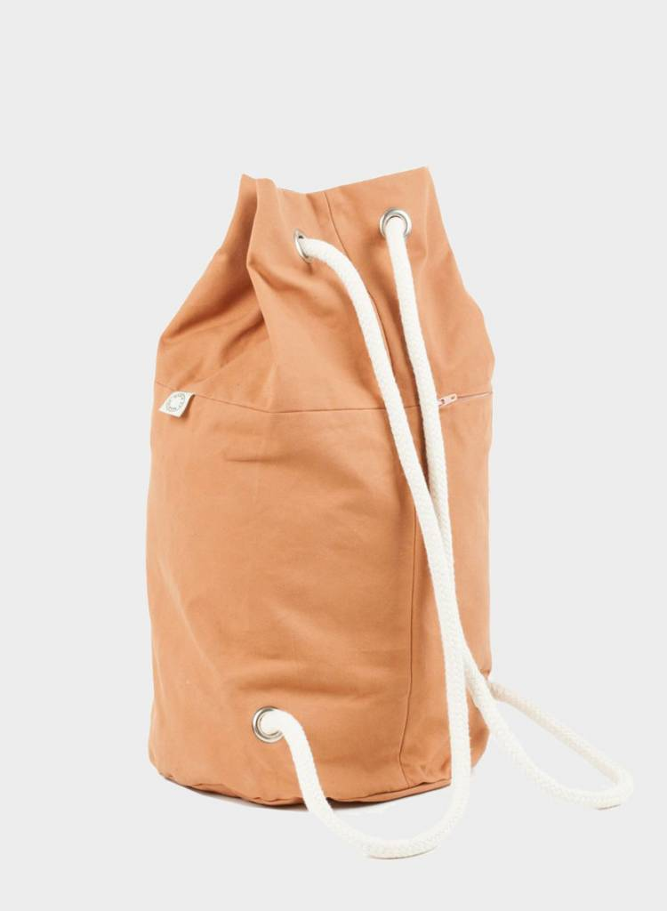 "Marin et Marine Backpack ""rainbag"" caramel - made of sturdy, water and dirt resistent cotton"