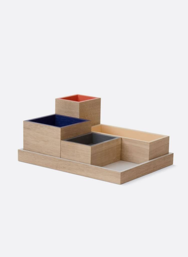 "Bartmann Berlin Desk Organiser ""Neon"" made of massiv wood"