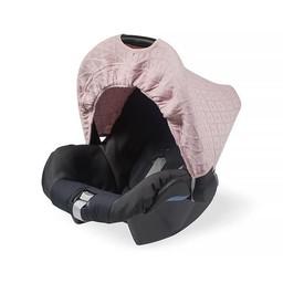 Jollein zonnekapje Diamond knit Vintage Pink