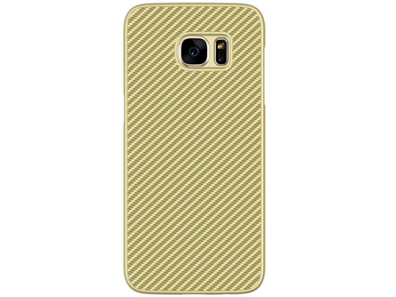 Samsung Galaxy S7 Edge Carbon Case Goud