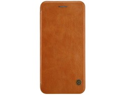 Hoesje Apple iPhone 7 Plus Qin Flip Case Bruin