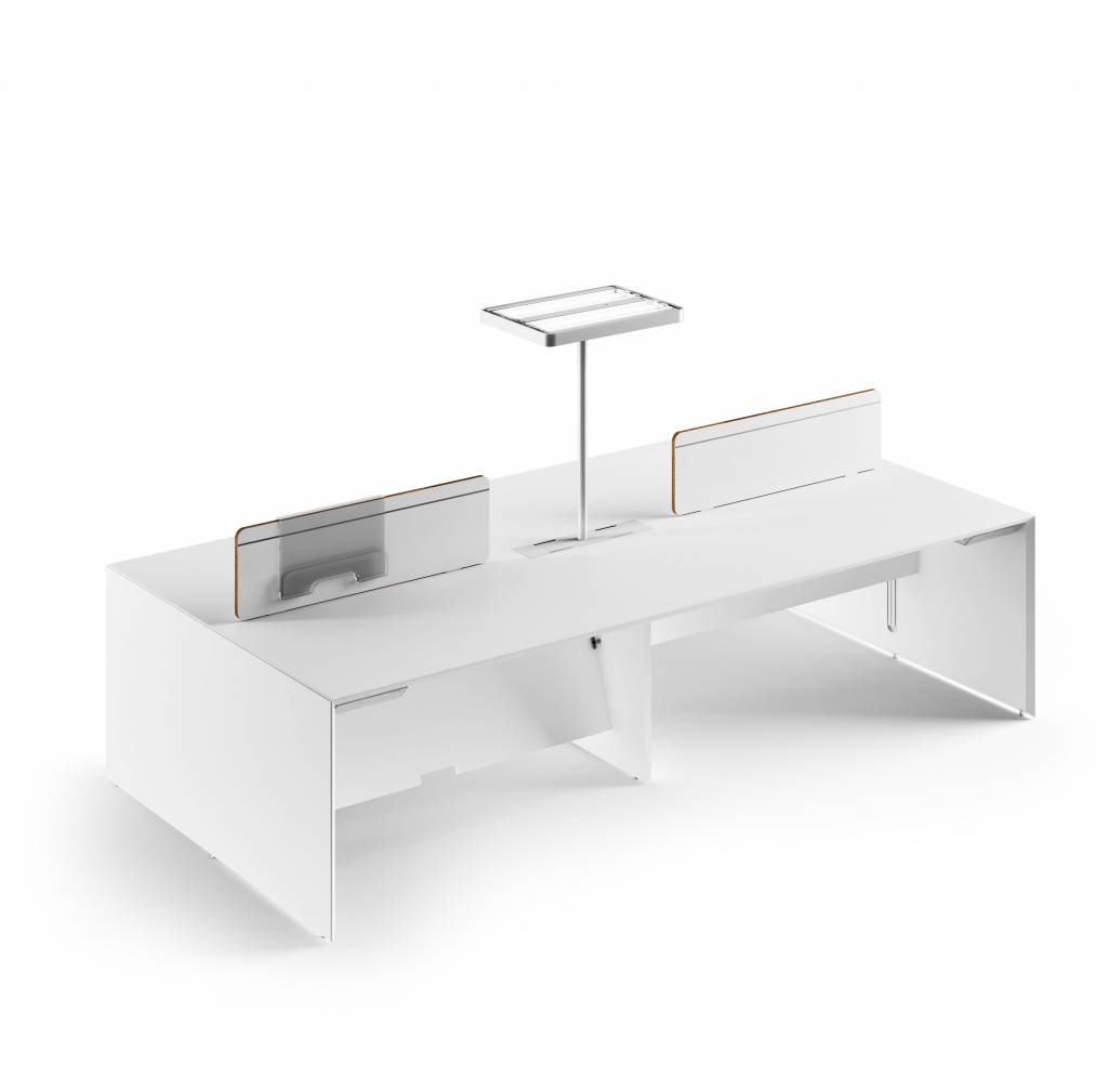 Fantoni quaranta5 bureaueiland 4 persoons design online meubels - Tafel centraal eiland ...