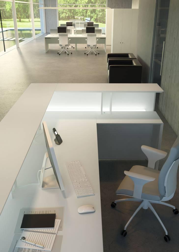 Fantoni Quaranta5 hoek receptiebalie - Design Online Meubels