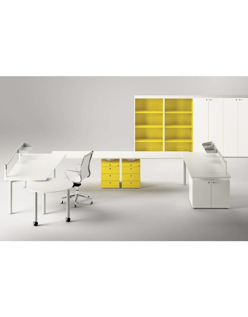Fantoni meta bureau 80cm diep design online meubels for Bureau 80 cm longueur