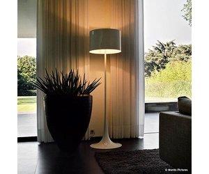 Design staande lamp mat zilver dimbaar straluma prachtige moderne