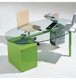 Ultom Ultom Isotta glazen bureau ovaal