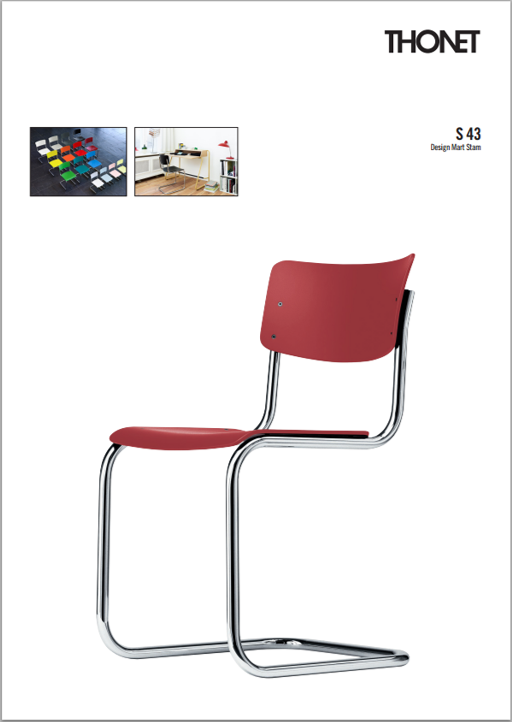 Thonet S43 stoel Design Online Meubels