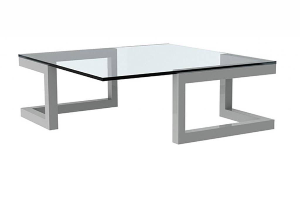 Salon Tafel Wit : Glazen salon tafel