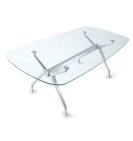 Interstuhl Interstuhl Silver glazen conferentietafel