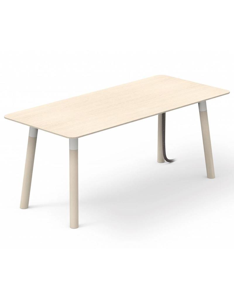 Fantoni woods bureau 80cm diep design online meubels for Bureau 80 cm