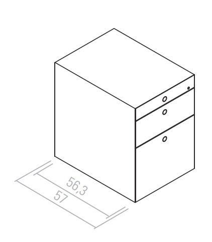 Fantoni quaranta5 ladeblok met hangmaplade design online for Ladeblok hangmappen