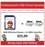 retro game set 2 controllers snes incl software
