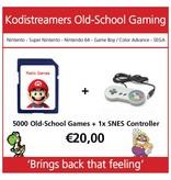 retro game set 1 controller snes plus software met 5000 games