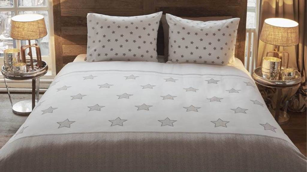 Riviera Maison Dekbedovertrek Starry Night zand 260×220 lits jumeaux XL   Decoware