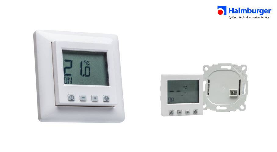 digital raumthermostat mit 55er abdeckung f r gira rahmen. Black Bedroom Furniture Sets. Home Design Ideas