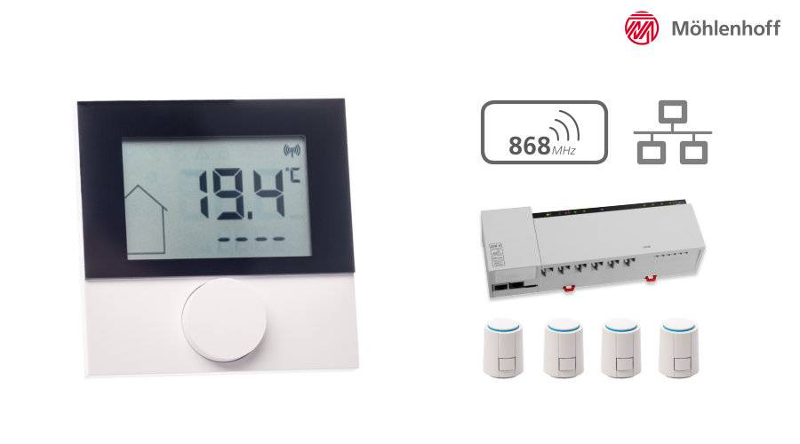 funk raumthermostat fu bodenheizung einzelraumregelung pefra regeltechnik. Black Bedroom Furniture Sets. Home Design Ideas