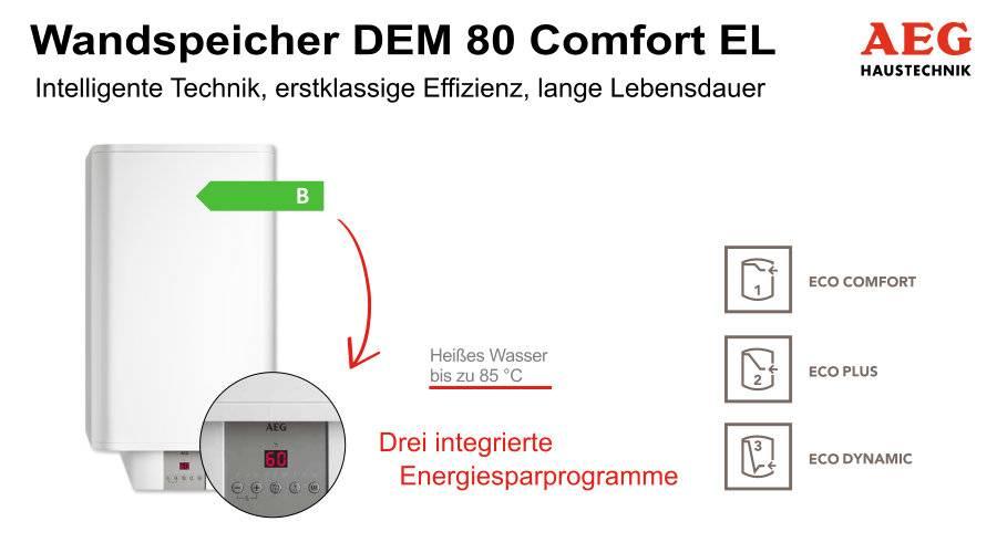 AEG Wandspeicher DEM 80 Comfort EL