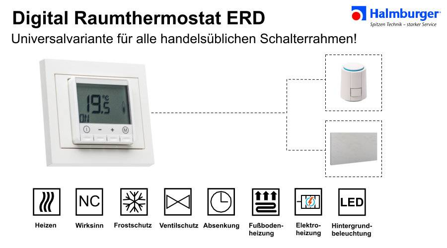 digital raumthermostat f r fast alle rahmen der. Black Bedroom Furniture Sets. Home Design Ideas