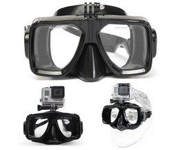 Duikbril met bevestiging voor GoPro Camera