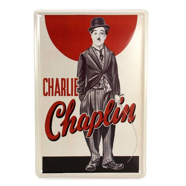Muurdecoratie Metaal Charlie Chaplin