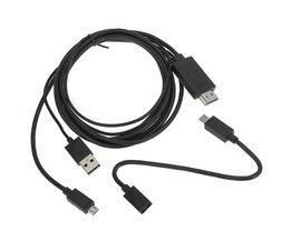 Micro USB Naar HDMI Adapterkabel Voor Mobiele Telefoons