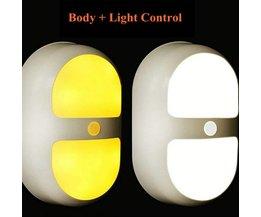 Nachtlamp LED Met Licht- En Bewegingssensor