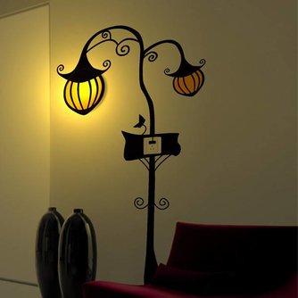 Muursticker Lamp