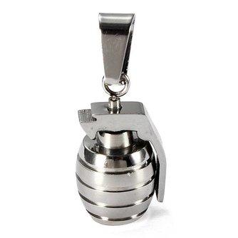 Zilveren granaathangertje voor mannen ketting