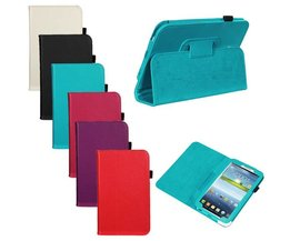 Tablet Hoesje Van Leer Voor Samsung Tab 3 P3200