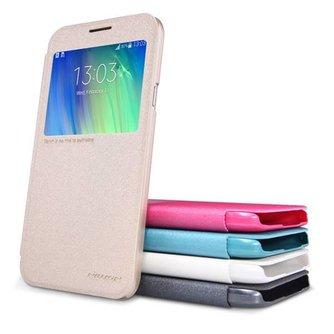 NILLKIN Sparkle View Cover voor de Samsung Galaxy E7