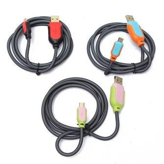 USB Laadkabel 1,2m Meerkleurig