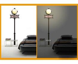 Metro Lamp 3D Sticker