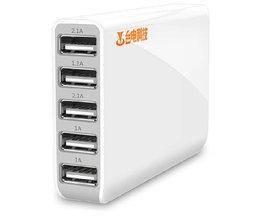 USB Hub met 5 Poorten voor Tablet en Smartphone