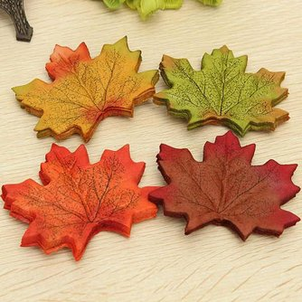 Huisdecoratieset Maple Leaves 50 stuks