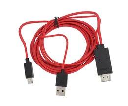 Micro USB naar HDMI Adapterkabel voor Smartphones