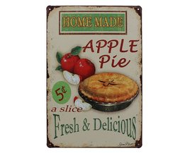 \'Apple Pie\' Vintage Keuken Muur Decor