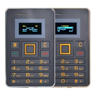 Mobiele Telefoon op Creditcard Formaat AEKU K5