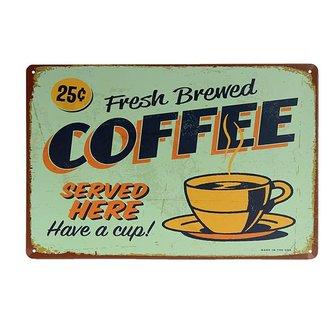 Vintage Decoratiebord Koffie