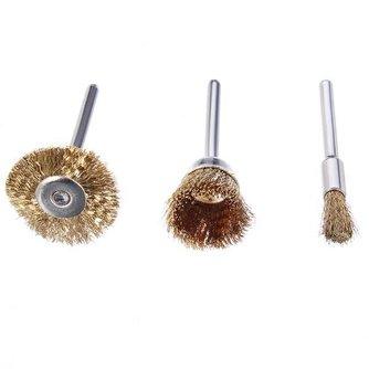 Set van 3 Staalborstels voor jouw rotatiegereedschap