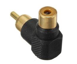 RCA Man/Vrouw Gouden Adapter Plug