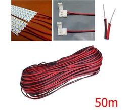 Signaaldraad 50m 2 Pin voor LED Strip Licht